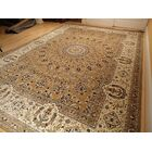 Shanelle Living Room Hand-Knotted Silk Brown Area Rug Rug Size: Rectangle 8' x 11'