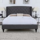 Rebello Classic Upholstered Platform Bed Color: Gray, Size: Queen