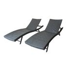 Gerson Outdoor Wicker Reclining Chaise Lounge
