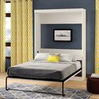 Beecroft Murphy Bed Headboard Color: White, Size: Queen