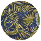 Stromberg Hand-Woven Blue/Green Indoor/Outdoor Area Rug Rug Size: Round 7'6