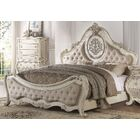 Stultz Upholstered Panel Bed Size: California King, Color: Antique White