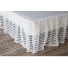 Garnell Gathered Lace Bed Skirt Size: King