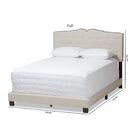 Ketcham Upholstered Panel Bed Color: Beige, Size: Full