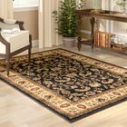 Caterina Black/Ivory/Burgundy Area Rug Rug Size: Rectangle 7'8