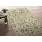 Romeo Hand-Knotted Wool Sand Area Rug Rug Size: Rectangle 8' x 10'