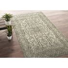 Romeo Hand-Knotted Wool Beige Area Rug Rug Size: Rectangle 2' x 3'