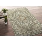 Romeo Hand-Knotted Wool Gray/Ivory Area Rug Rug Size: Rectangle 2' x 3'
