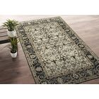 Romeo Hand-Knotted Wool Oatmeal/Charcoal Area Rug Rug Size: Rectangle 8' x 10'