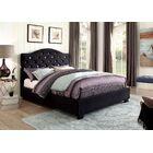 Liska Upholstered Platform Bed Size: California King, Color: Black