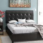 Balam Upholstered Bed Panel Bed Size: Queen, Color: Black