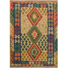 One-of-a-Kind Bakerstown Hand-Woven Wool Blue/Green Area Rug