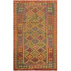 One-of-a-Kind Bakerstown Hand-Woven Rust/Blue Area Rug