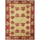 One-of-a-Kind Curtsinger Hand-Woven Wool Gold/Red Area Rug