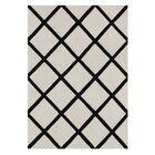 Kucera Hand-Tufted Wool Beige/Black Area Rug Rug Size: Rectangle 5' x 8'