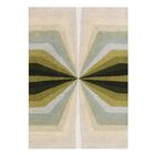 Shane Shades of Illusion Hand-Tufted Wool Green/Beige Area Rug Rug Size: Rectangle 8' x 10'