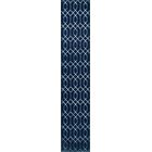 Glam Navy Blue Area Rug Rug Size: Runner 2' x 10'