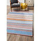 Fedler Hand-Woven Blue/Orange Area Rug Rug Size: Rectangle 8' x 10'