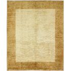 One-of-a-Kind Rejali Hand-Woven Wool Ivory/Gold Area Rug