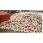 Johansson Enchanted Forest Cream/Red Area Rug Rug Size: Rectangle 8' x 10'
