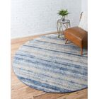 Montross Blue Area Rug Rug Size: Round 8'