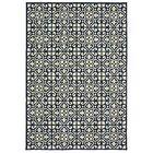 Salerno Intricate Lattice Beige/Navy Indoor/Outdoor Area Rug Rug Size: Rectangle 5'3
