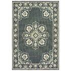 Salerno Floral Medallion Gray/Ivory Indoor/Outdoor Area Rug Rug Size: Rectangle 8'6