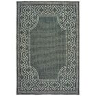 Salerno Intricate Border Gray/Ivory Indoor/Outdoor Area Rug Rug Size: Rectangle 6'7
