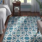Martina Hand Woven Blue Indoor/Outdoor Area Rug Rug Size: Rectangle 6' x 9'