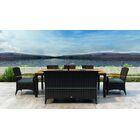 Aisha 7 Piece Dining Set with Sunbrella Cushion Cushion Color: Cast Lagoon