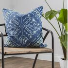 Fabre Embroidered 100% Cotton Throw Pillow Color: Charcoal