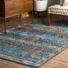 Fellows Blue Area Rug Rug Size: Rectangle 9' x 12'