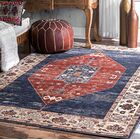Ferrigno Red/BlueArea Rug Rug Size: Rectangle 5' x 8'