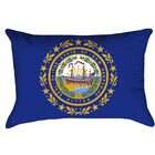 New Hampshire Flag Product Type: Lumbar Pillow, Cover Material: Poly Twill-Concealed Zipper-Indoor, Fill Material: Polyester