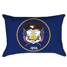 Centers Utah Flag Product Type: Lumbar Pillow, Fill Material: Polyester, Cover Material: Polyester-No Zipper-Outdoor