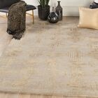 Kneeland Geometric Hand-Tufted Taupe/Gold Area Rug Rug Size: Rectangle 9' x 13'