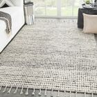 Finnell Hand-Woven Ivory/Black Area Rug Rug Size: Rectangle 9' x 13'