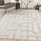 Knights Geometric Hand-Tufted Beige Area Rug Rug Size: Rectangle 8' x 11'