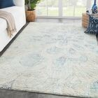 Gassett Floral Hand-Tufted Floral Blue/Green Area Rug Rug Size: Rectangle 9' x 12'