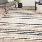 Smaldino Stripe Hand-Knotted Black/Sage Area Rug Rug Size: Rectangle 5' x 8'