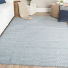 Finnerty Hand-Woven Wool Blue/Ivory Area Rug Rug Size: Rectangle 9' x 12'