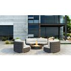 Gilleland 3 Piece Sectional Set with Sunbrella Cushion Cushion Color: Canvas Natural