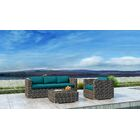 Gilleland 3 Piece Sofa Set with Sunbrella Cushion Cushion Color: Spectrum Peacock