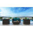 Gilleland 4 Piece Sofa Set with Sunbrella Cushion Cushion Color: Spectrum Peacock