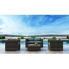 Gilleland 4 Piece Sofa Set with Sunbrella Cushion Cushion Color: Cast Lagoon