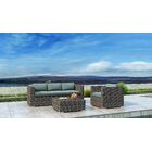Gilleland 3 Piece Sofa Set with Sunbrella Cushion Cushion Color: Canvas Spa