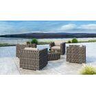 Gilleland 5 Piece Sofa Set with Sunbrella Cushion Cushion Color: Canvas Flax