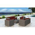Gilleland 5 Piece Sofa Set with Sunbrella Cushion Cushion Color: Canvas Henna