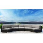 Glendale 3 Piece Sectional Set with Sunbrella Cushion Cushion Color: Cast Silver