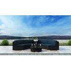 Glendale 4 Piece Sectional Set with Sunbrella Cushion Cushion Color: Spectrum Indigo